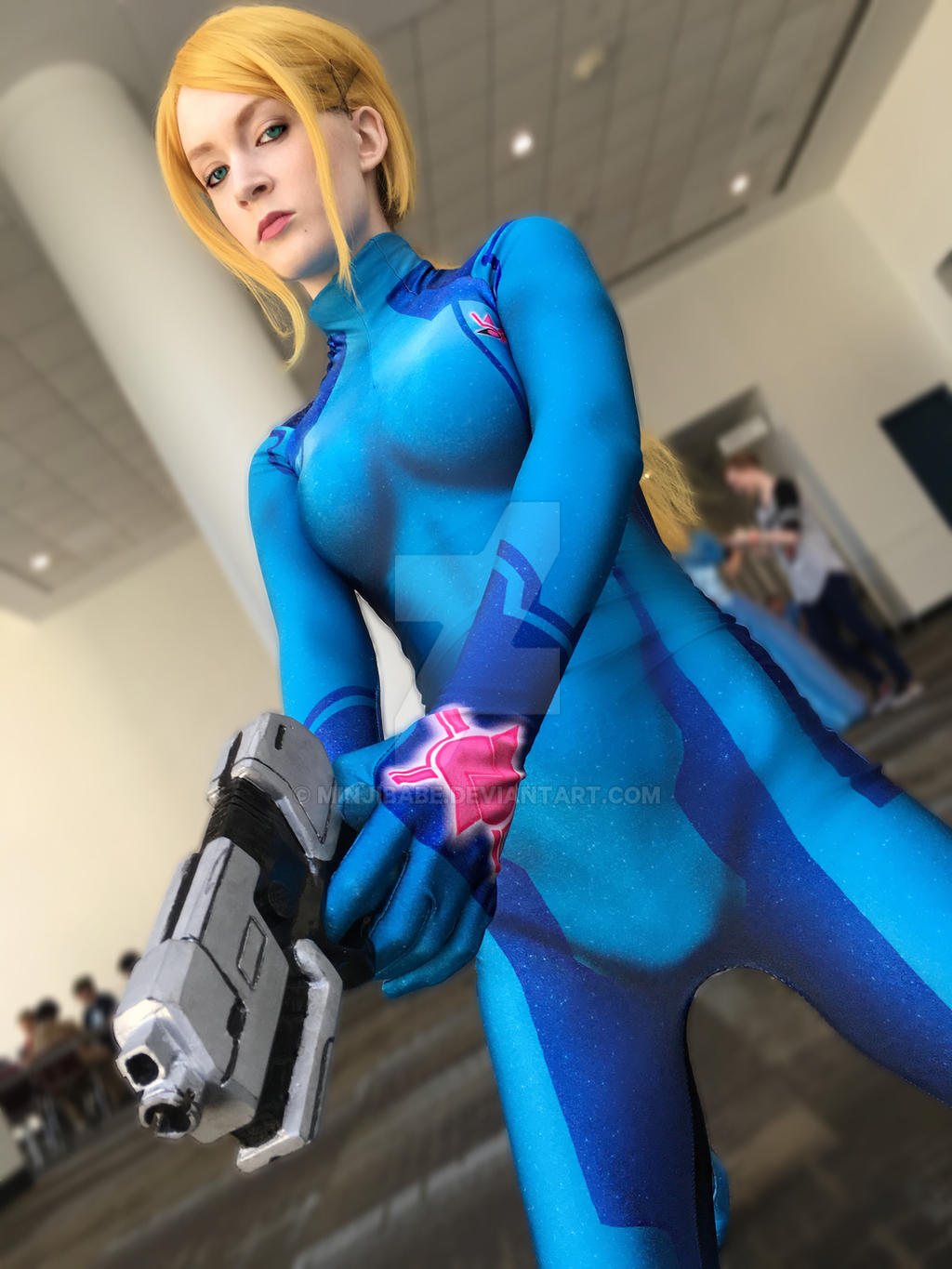 Samus Aran Zero Suit Cosplay By Minjibabe On Deviantart