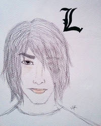Death Note: L's thoughts (realistic portrait) by MaraCroft3