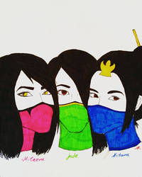 Mortal Kombat Female Trio by MaraCroft3
