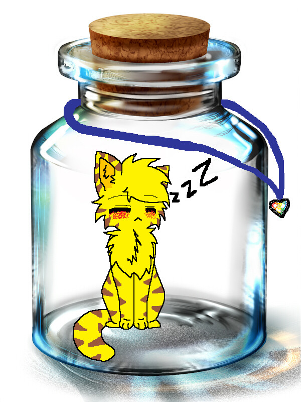 I'm stuck.... in a bottle? by Animerocksthebest
