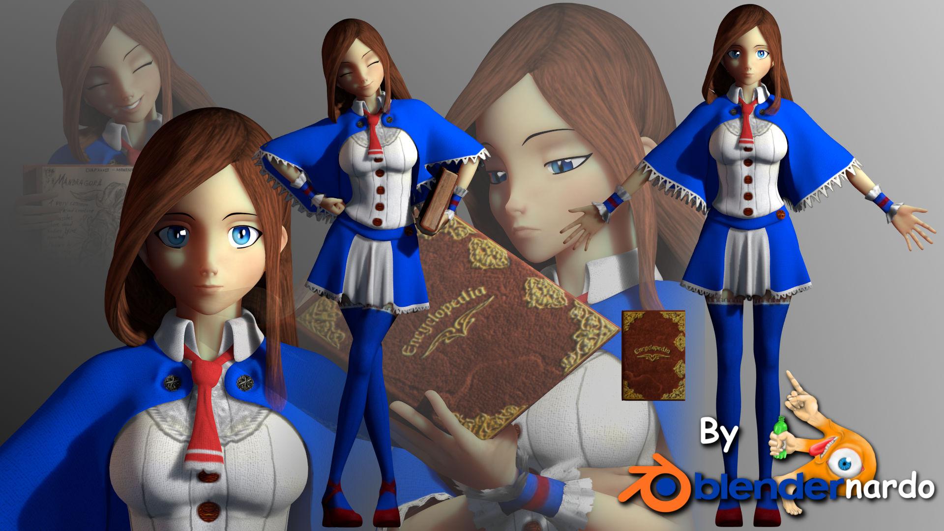 Charlotte aulin by blendernardo on deviantart for Deviantart vrchat avatars