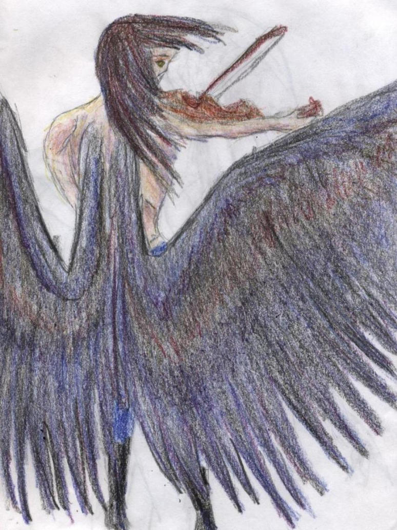 The Winged Musician by NicoleMAbrahamson