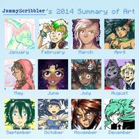 2014 Art Summary by JammyScribbler