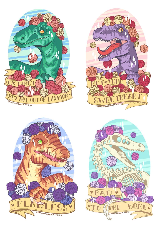 Raptor Girl Gang by JammyScribbler