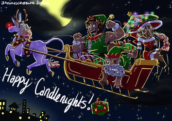 Happy Candlenights by JammyScribbler