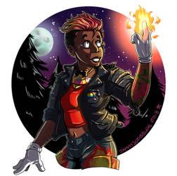 torch girl by JammyScribbler