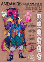 DnD character sheet: Dave by JammyScribbler