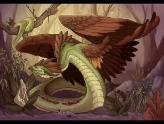Quetzalcoatl by neondragon