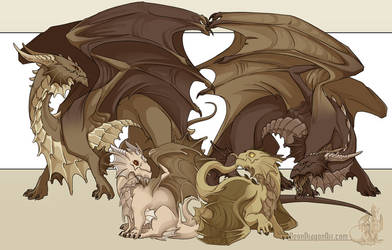 Guardian Dragons by neondragon