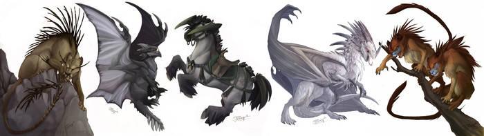 Alluria: Creepy Creatures by neondragon