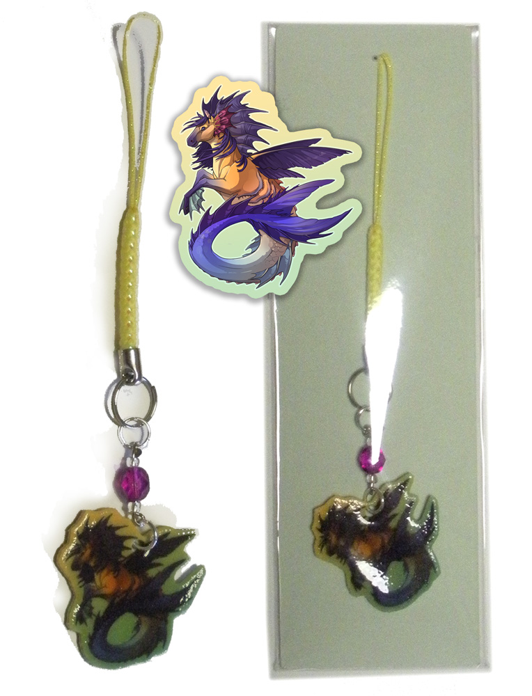 Phone Charm - Hippocamp by neondragon