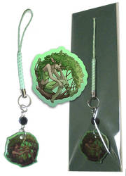Phone Charm - Green Dryad by neondragon