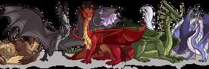 FR - Dragon Group by neondragon