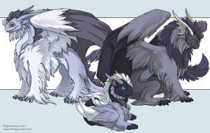 Tundra Dragons by neondragon