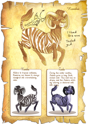 Flight Rising Bestiary: Rambra by neondragon