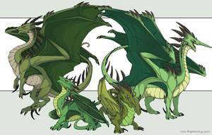 Ridgeback Dragons by neondragon