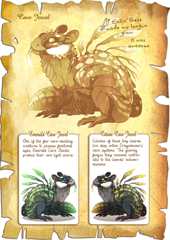 Flight Rising Bestiary: Cave Jewels