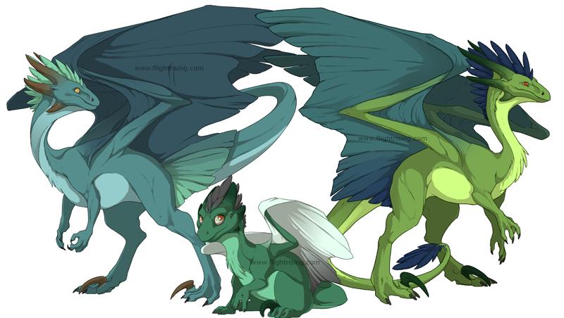 Flight Rising: Wildclaw Dragons by neondragon