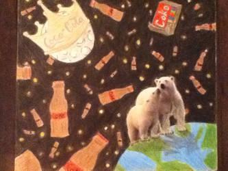 coca cola polar bear by AimeeGrace