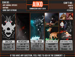 Commission Sheet 2019 [Aiko] by Aik0San
