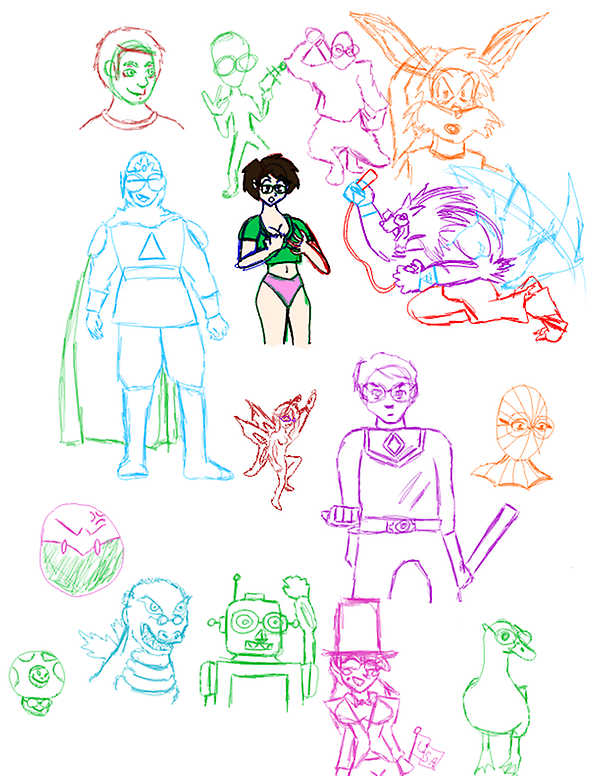 Misc alternate me sketches by NetSenshi