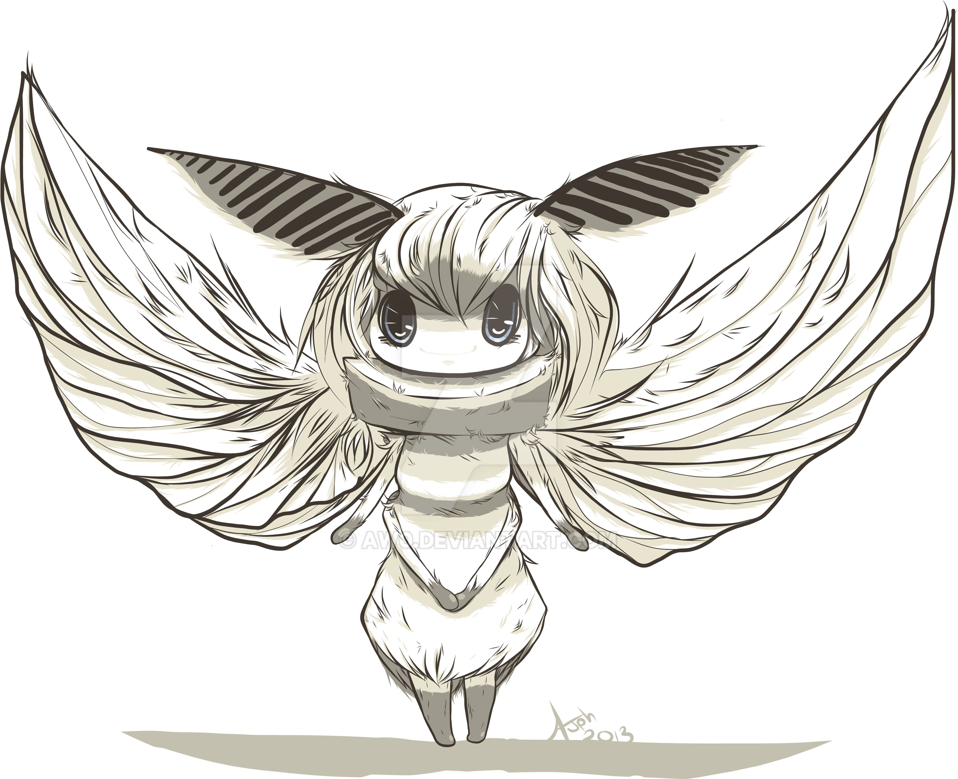 Moth chibi by ArtisticWarrior0