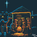 The Birth of Jesus Christ - pixel art