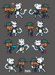 Rote x Twinkelen - poses [devlog] by Aw0