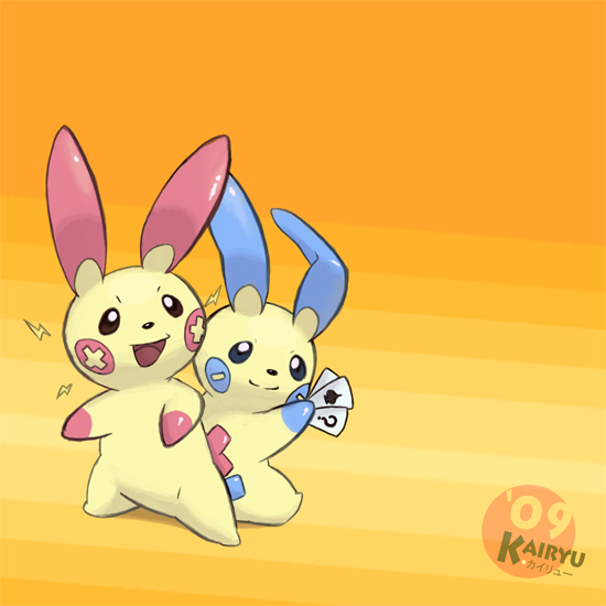 Plusle And Minun Wallpaper Plusle and Minun by Ka...