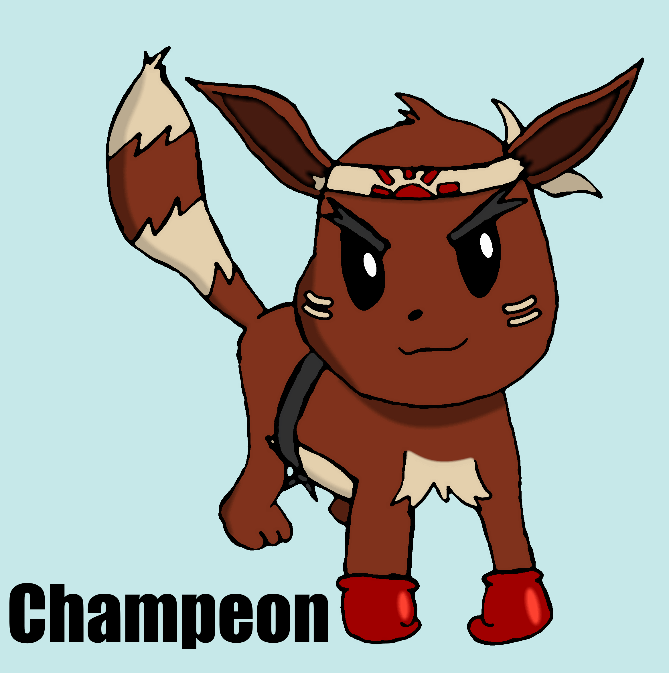 Champeon: Fighting Eeveelution Fakemon by ThePixelGecko on ...