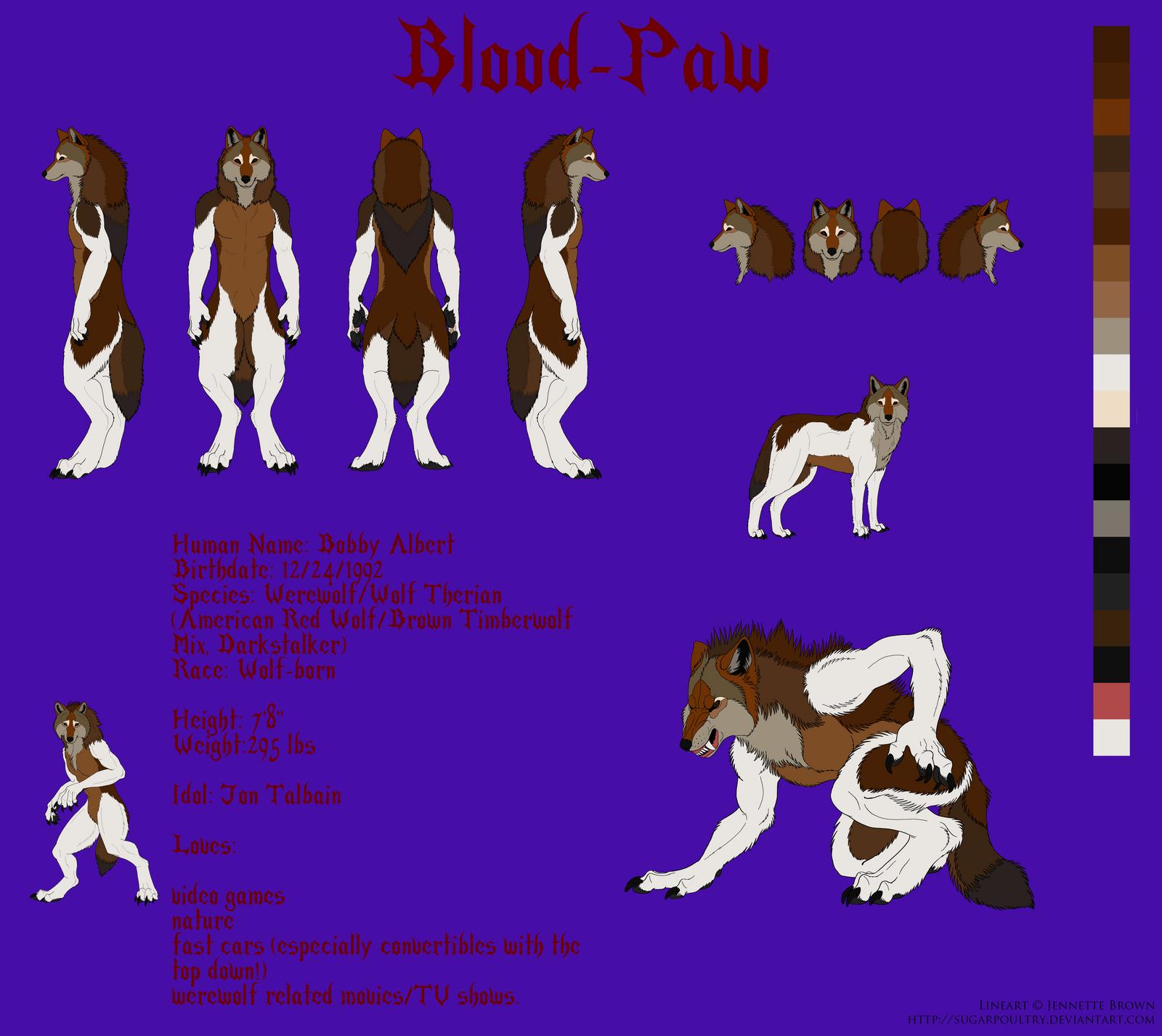 Blood-Paw: Ref Sheet (Updated) by Blood-PawWerewolf