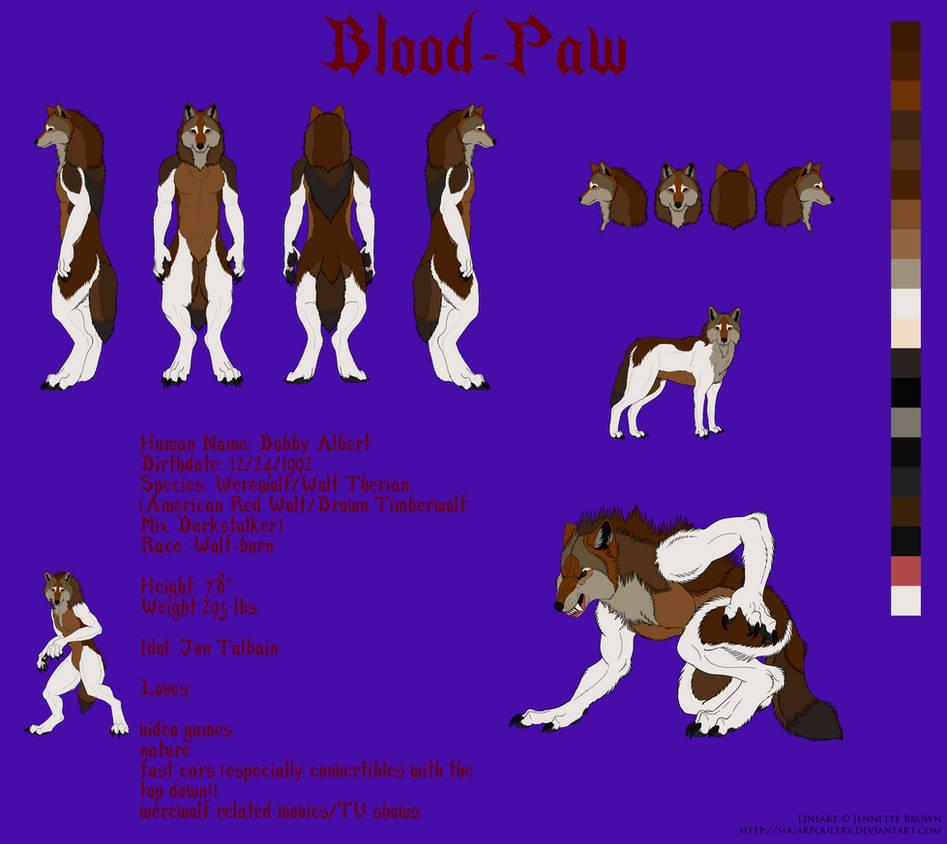 Blood-Paw: Ref Sheet (Updated)