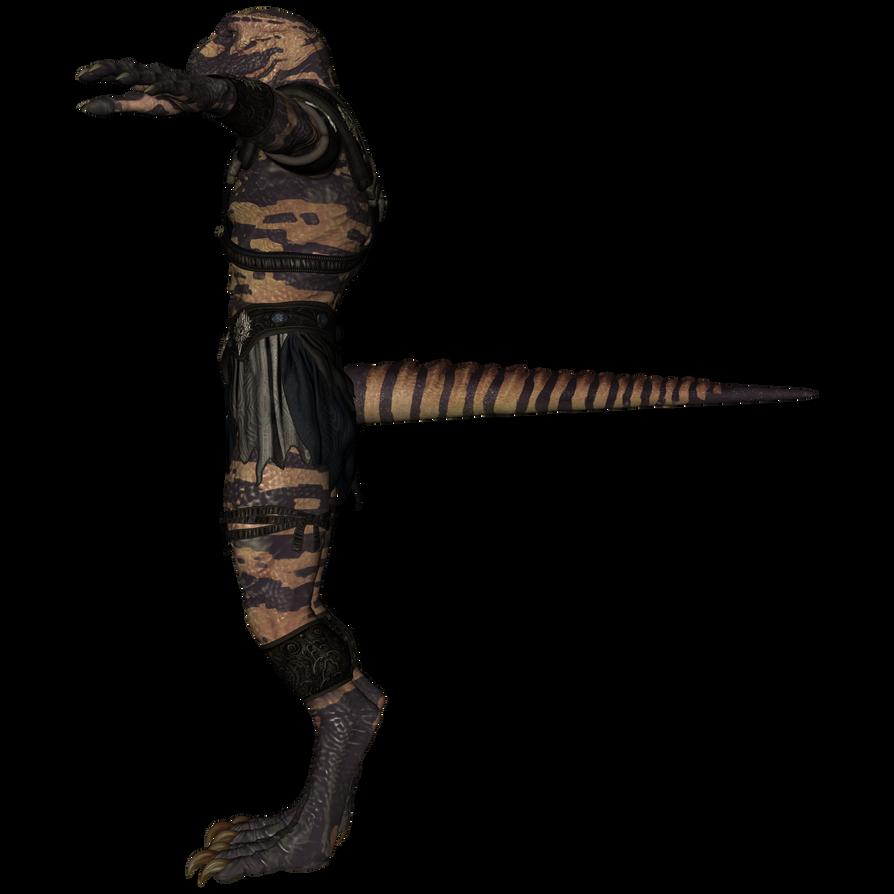 DAZ 3D (Studio): Werelizard #3 (Left View) by Blood-PawWerewolf
