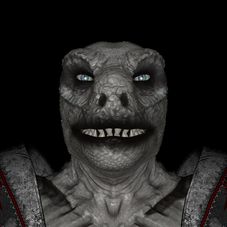 DAZ 3D (Studio): Werelizard #4 (Head Shot) by Blood-PawWerewolf