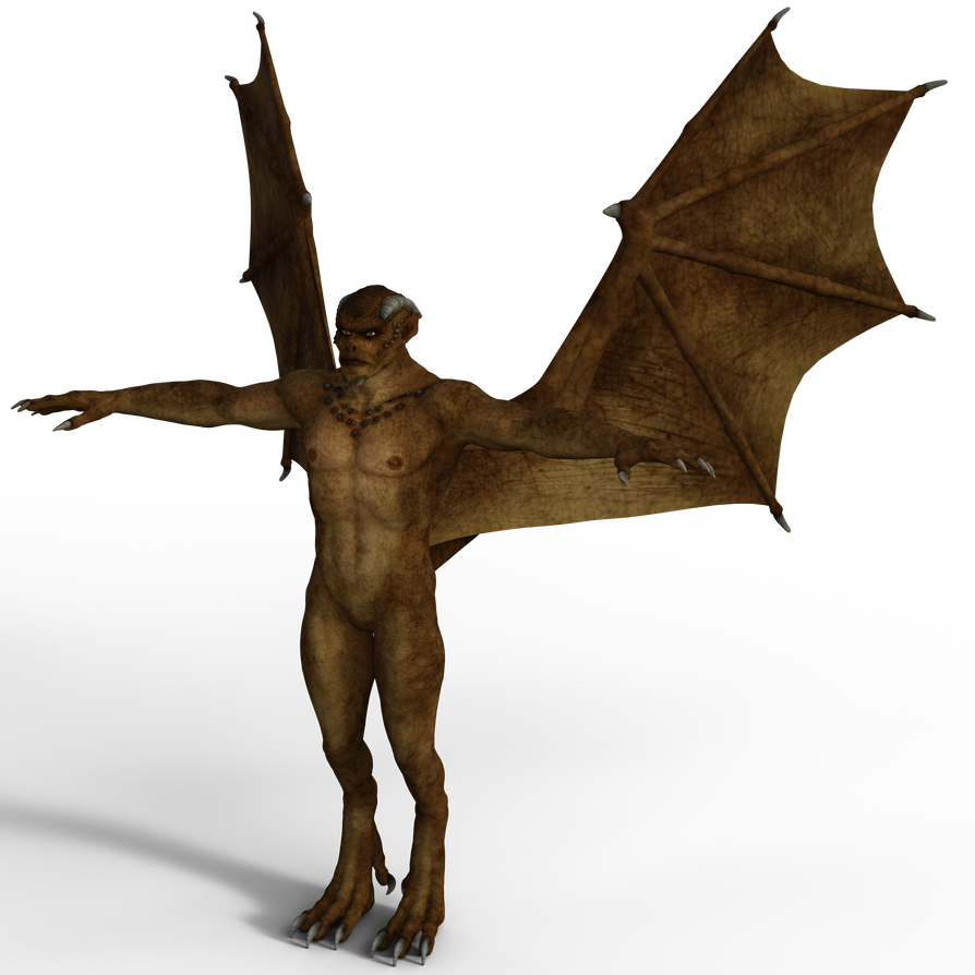 DAZ 3D (Studio): Male Gargoyle [iRay Render Test] by Blood-PawWerewolf