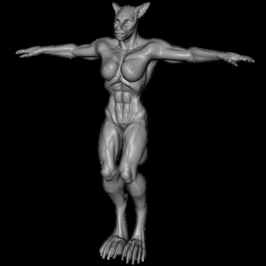 Werewolf (CC) (Female) (G3F) [Clone] by Blood-PawWerewolf