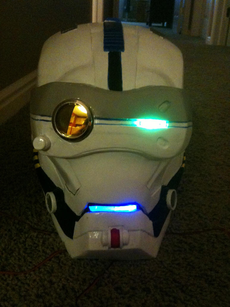 custom robot head with lights by TIMECON