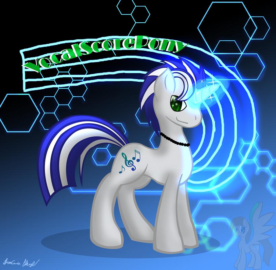 VocalScorePony [Gift] by SpeedyandRose