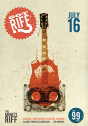 Mighty Riff promo poster