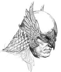 Winged Hawkhelmet by WilliamFDrake