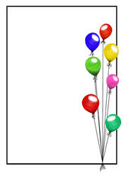 Balloons Party paper by WilliamFDrake