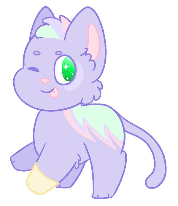 Pastel Cat Adoptable *closed* by Morespringbunnies