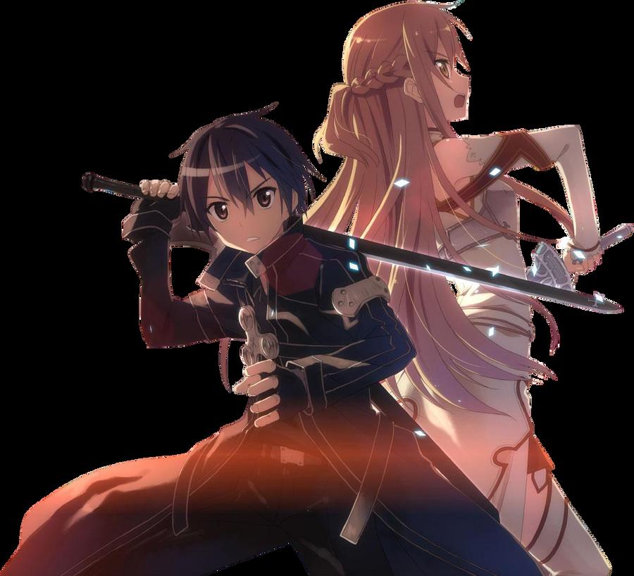 Sword art online asuna and kirito swords by healsgood