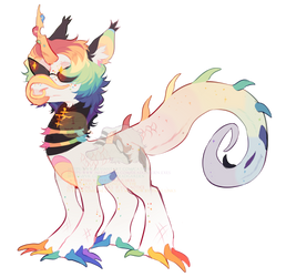 rainbow chameleon pony adopt! OTA (closed) by CatMixt