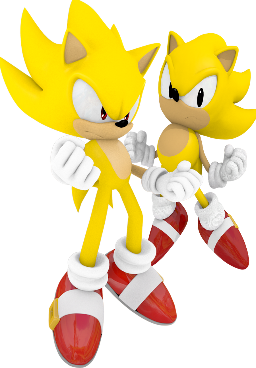 Classic And Modern Super Sonic By Zunachina On Deviantart