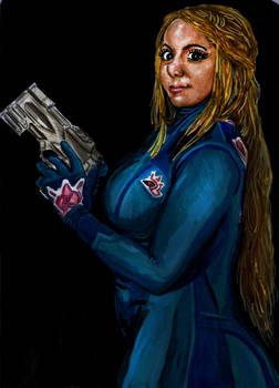 Mariah Mallad as Samus Aran- zero suit (metroid)