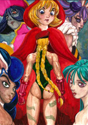 Cammy v Darkstalkers girls
