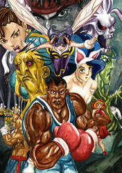 Streetfighter vs darkstalkers poster