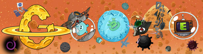 angry birds space google doodle