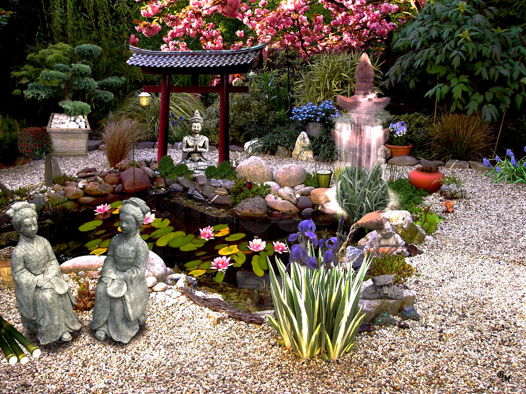 japanischer garten japanese garden by rembrantt on deviantart. Black Bedroom Furniture Sets. Home Design Ideas
